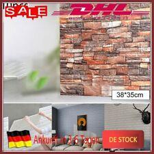 10 Stück  3D Tapete Selbstklebend Wandpaneele Wandaufkleber Ziegelstein DHL