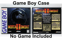 Mortal Kombat II - Game Boy GB Custom Case *NO GAME*