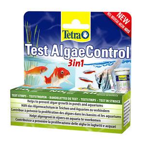 Tetra Test AlgaeControl 3in1 Prevent Algae Pond Aquarium PO4 N03 KH Test Strips