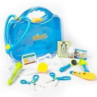 Kids Toy DOCTOR PLAY SET Childrens Medical Carry Case 11 Piece Nurse Role Games
