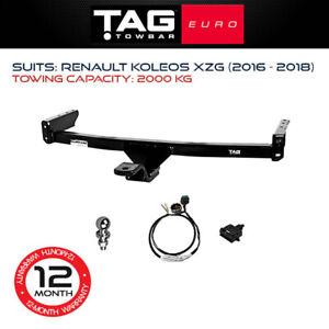 TAG Euro Towbar Fits Renault Koleos 2016-2018 2000Kg Towing Capacity 4x4 4WD