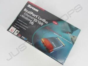 Neuf Xircom Realport Cardbus Éthernet 10/100 + Modem 56 Pcmcia Carte RBEM56G-100
