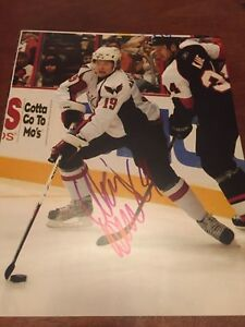NICKLAS BACKSTROM SIGNED WASHINGTON CAPITALS 8x10 photo  Stanley Cup