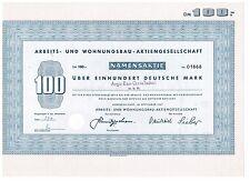 Arbeits- und Wohnungsbau-AG, Herzberg/Harz 1967, 100 DM
