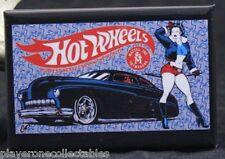 "Hot Wheels Hot Rod Pinup Girl 2"" X 3"" Fridge Magnet. Vintage Mattel Toy Ad"