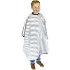 DMI VINTAGE BARBERING CAPE WHITE POLYESTER BARBERS KIDDY PIN STRIPED CHILD KIDS