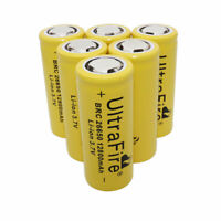 6X 26650 Li-ion Battery 12800mAh 3.7V Rechargeable BRC Batteries for Flashlight