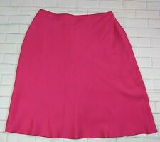 Ann Taylor Petites Silk A Line Skirt Size 6 Petite Womens Hot Pink Lined