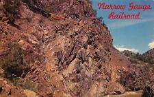 CO, Colorado   D.&R.G. NARROW GAUGE RAILROAD    Train in Animas Gorge   Postcard