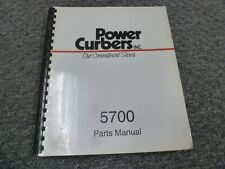 Power Curbers 5700 Curb Amp Gutter Machine Parts Catalog Manual
