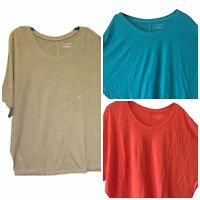 Lane Bryant Women's Linen Knit Dolman Sleeves Plus Top 14/16,18/20, 22/24, 26/28