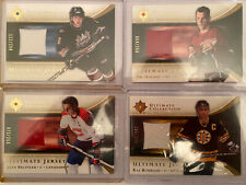 Ultimate Collection Jersey Card Lot - Ovechkin RC, Howe, Bourque, Beliveau +++