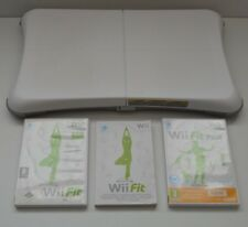 Nintendo White Wii Fit Balance Exercise Board & Wii Fit Plus Game Bundle Fitness