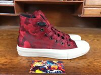 CONVERSE JOHN VARVATOS CHUCK TAYLOR ALL STAR 2 HI TOP RED CAMO OXBLOOD OFF WHITE