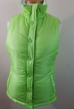 Fox Women's Lime Green Reversible Puff Vest size Small 10218-2 B7