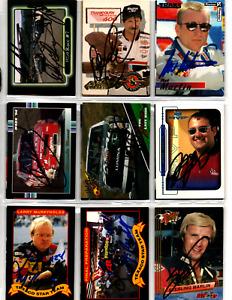 NASCAR 75 autographed card lot NO RESERVE