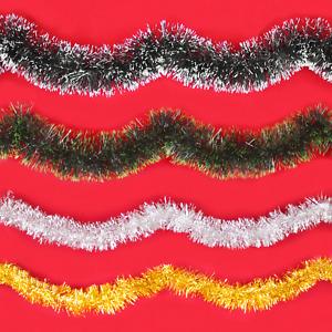 Weihnachts Girlande 2 Meter Weihnachtsbaum Tannenbaum Lametta Weihnachtsdeko