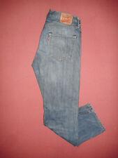 Levi Strauss 501 Leather Patch - W34 L31 - Mens Blue Denim Jeans - B817