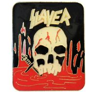 Vintage Original 1980's Slayer American Heavy Metal Rock Group Band Music Badge