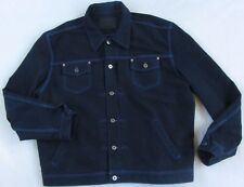Guess Men's L/S Button Down Heavy Dark Wash Denim Jean Jacket - Size 3XL
