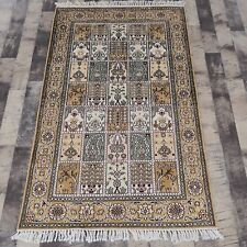 YILONG 3'x5' Four Seasons Hand Knotted Silk Carpet Antistatic Area Rug Y125C