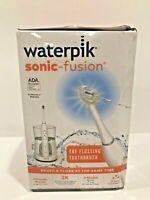 Waterpik Sonic Fusion Flossing Toothbrush & Water Flosser - White SF-01W020-1