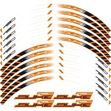 """Für KTM DUKE 790 Radaufkleber 17 """"Reflective Decals Felgenband Bike-White"""