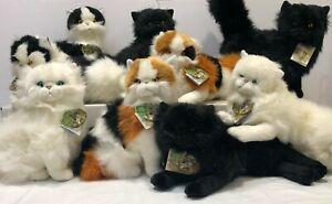 Bocchetta Plush Toys Long Hair Cats Most Realistic Plush Cats NWT