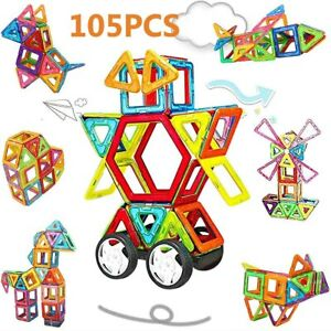 105er Magformers Spielzeug 3D Ziegel Magnetische Bausteine Pädagogisches Set DHL