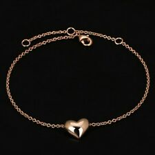 Bracelet Fin Femme Motif Coeur Plaqué Or Rose - Bijoux des Lys