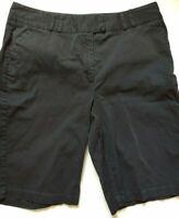Chicos Bermuda Shorts Womens Size 3 XLarge 16 Black Cotton Stretch