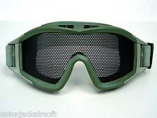 Airsoft Desert Grasshopper Green Mesh Eye Goggles