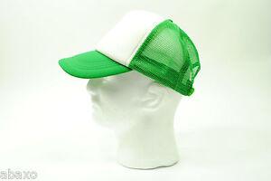 Trucker Mesh Cap/Hat Baseball Old School Vintage Classic - Green/White