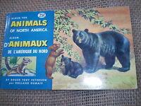 ANIMALS OF NORTH AMERICA 48 TEA CARDS 1960 BROOKE BOND CANADA COMPLETE ALBUM