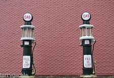 One Pair Gas Pumps Diecast O Scale Vintage 1920's Style Diorama Accessory Items