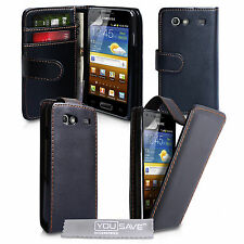 Accessories For Samsung Galaxy S Advance PU Leather Case Cover Skin & Film UK