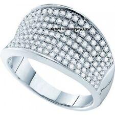 14K White Gold FN Round Diamond Men's Engagement Wedding Pinky Ring 2.20 Carat