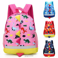 Cute Toddler Kids Boys Girls Dinosaur Backpack School Bag Rucksack Character UK