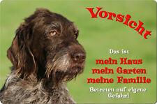 Deutsch DRAHTHAAR - A4 Alu Warnschild Hundeschild SCHILD Türschild - DDR 01 T1