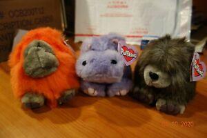 Puffkins SPIKE The Porcupine, HENRIETTA The Hippo & OMAR The Orangutan MWMT 1994