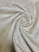 MARK & SPENCER / NEXT CREAM CHENILLE UPHOLSTERY FABRIC 1.4 METRES