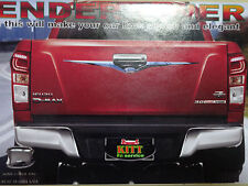 Fit Isuzu D-Max Dmax UTE 2012-2015 Chrome Tailgate Fender Liner Accent Cover