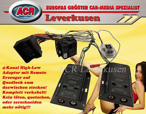 4-KANAL HIGH-LOW ADAPTER MIT REMOTE ADAPTER VW OPEL BMW SEAT SKODA FORD