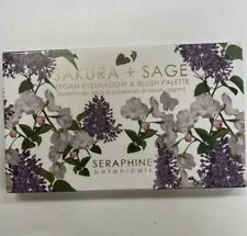 New Seraphine Botanicals Sakura & Sage Vegan Eyeshadow & Blush Palette Makeup