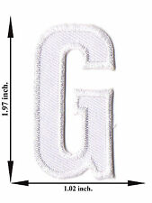 Alphabet G White Color English Letter Applique Iron on Patch Sew For T-shirt