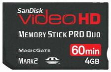 SanDisk 4GB Memory Stick Pro Duo Mark 2 Video HD SDMSPDHV-004G 100% Genuine New