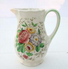 Vintage 1940s 1950s Royal Doulton Malvern Bone China Floral Milk Jug Creamer