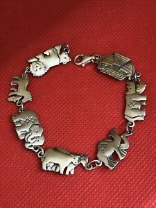 "James Avery Sterling Silver NOAH'S ARK Bracelet 7"""