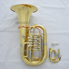 Professional Gold C/Bb 4 Key Rotary Valve Euphonium horn 11.6'' New With Case