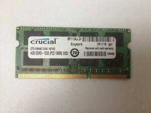 Crucial CT51264BC1339. 16FHD 4 GB DDR3 - 1333 (PC3 10600) SODI